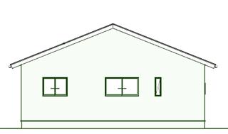 平屋住宅の間取りプラン:シンプルな2LDK外観