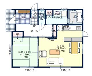 狭小住宅1階の間取り